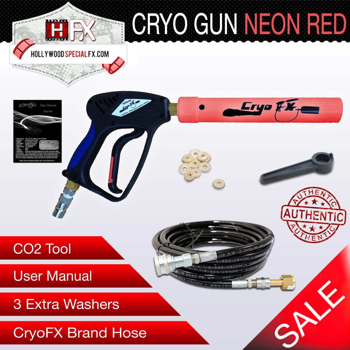CO2 Cryo Gun NEON Red