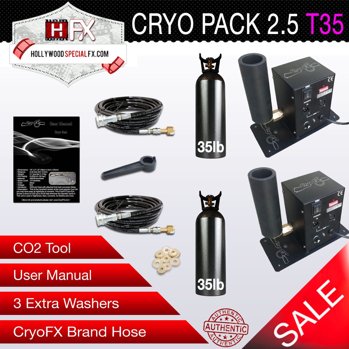 Cryo Pack 2.5 T35 2 CO2 Jets with 2 35lbs Tanks