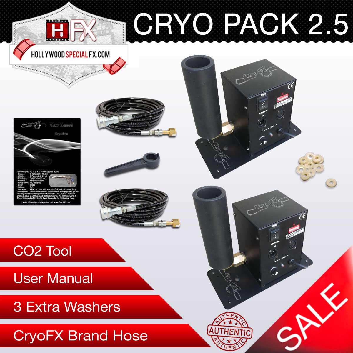 CO2 Jet Cryo Package with 2 CO2 Jets Special Effects Club Cannon for Sale