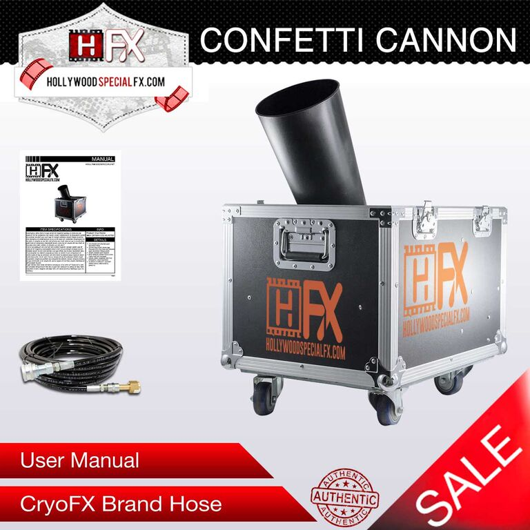 Hollywood Special Effects- Small Confetti Cannon - Special Effects Company - Hollywood Special Effect Products
